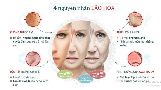 4 nguyên nhân gây lão hóa da